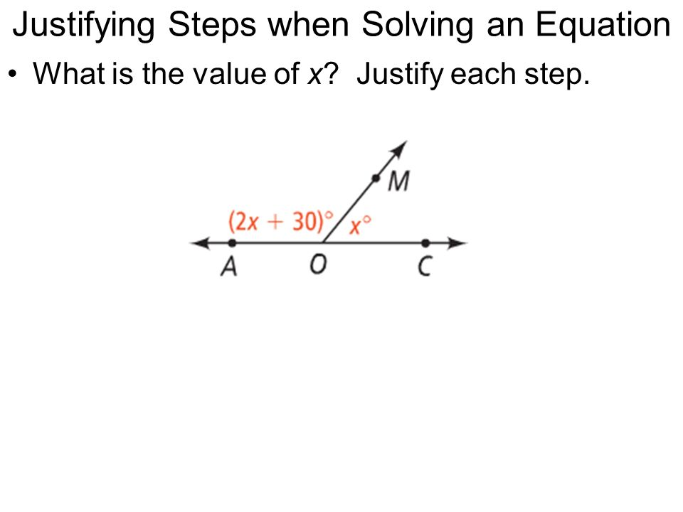 Justifying Steps when Solving an Equation