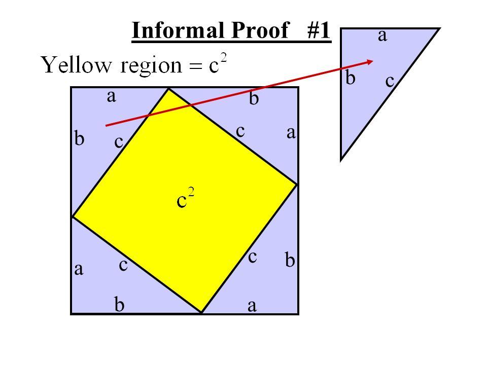 Informal Proof #1 a b c a b c a b c c b c a b a