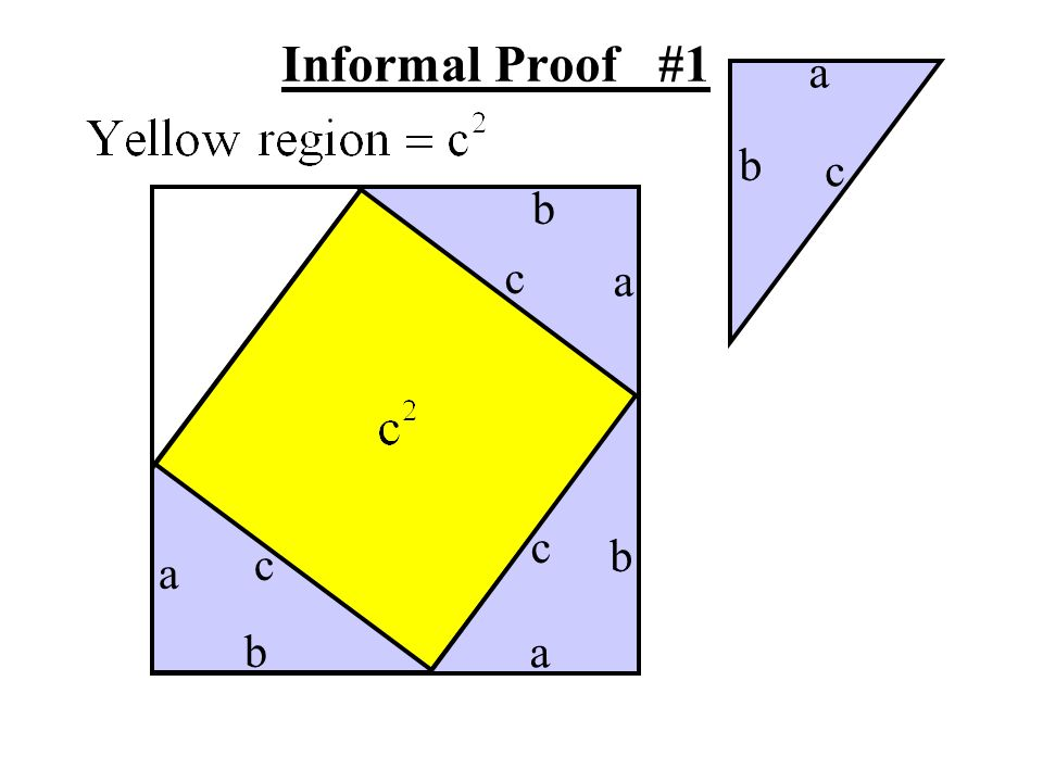Informal Proof #1 a b c b c a c b c a b a