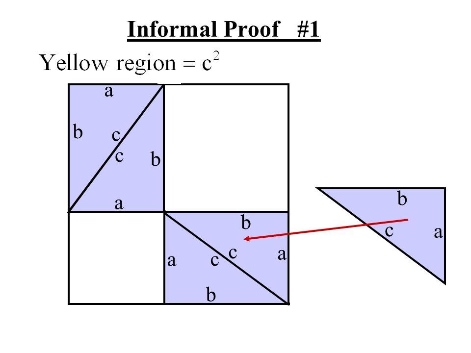 Informal Proof #1 a b c c b b a b c a c a a c b