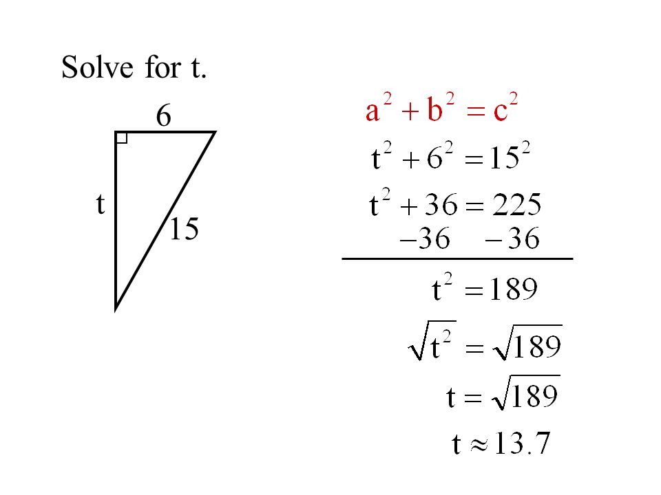 Solve for t. 6 t 15