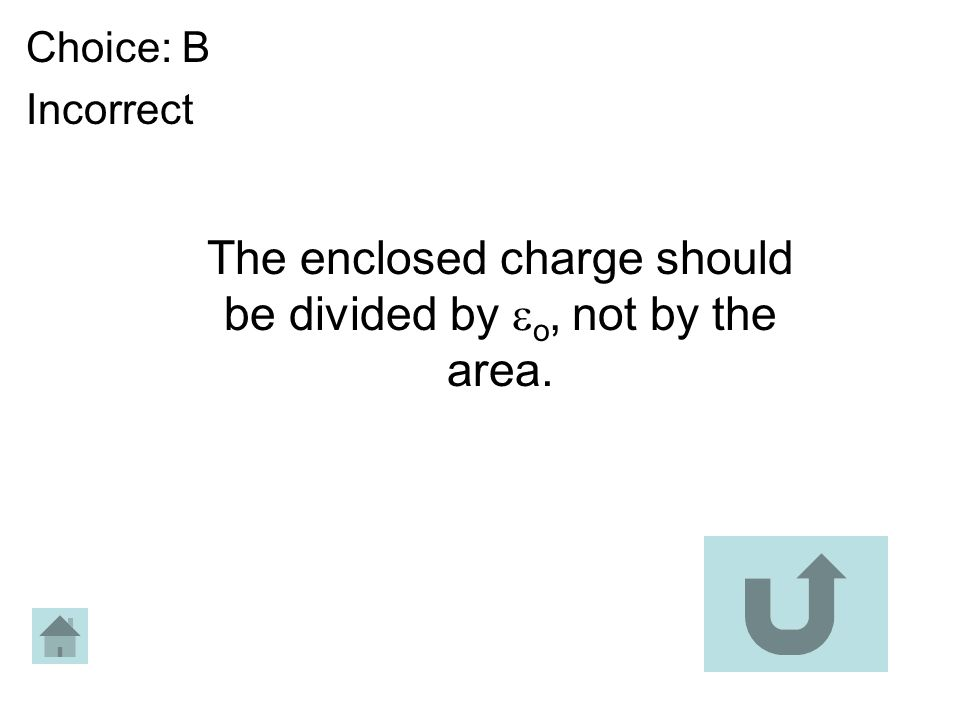 The enclosed charge should be divided by o, not by the area.