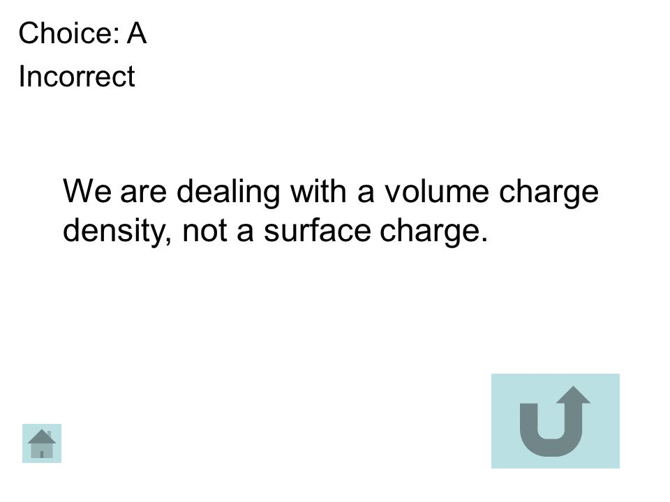 We are dealing with a volume charge density, not a surface charge.