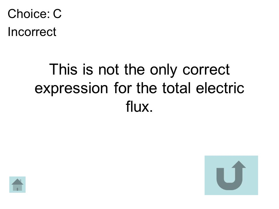 This is not the only correct expression for the total electric flux.