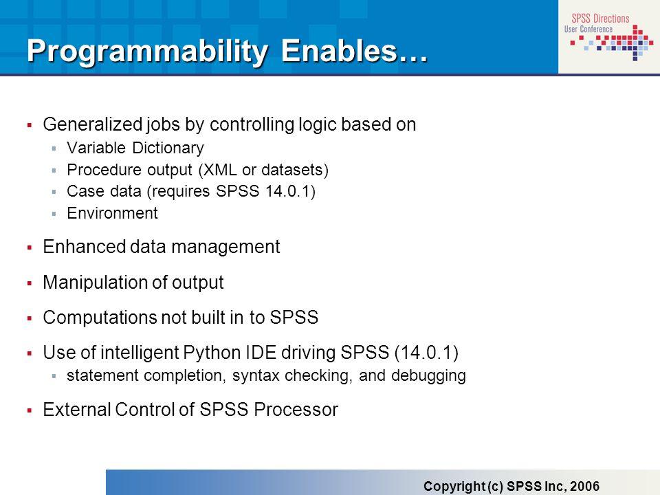 Programmability Enables…