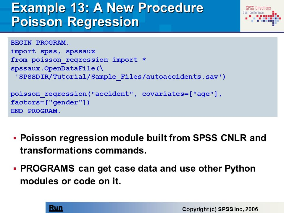 Example 13: A New Procedure Poisson Regression