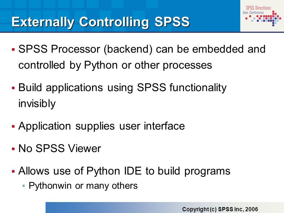 Externally Controlling SPSS