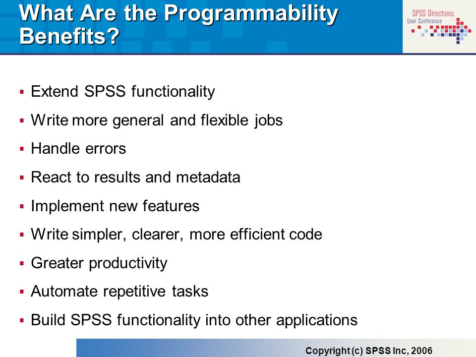What Are the Programmability Benefits