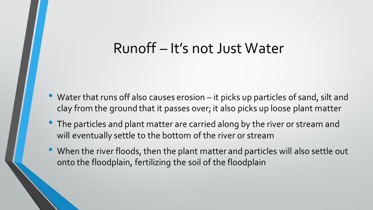 Runoff – It's not Just Water
