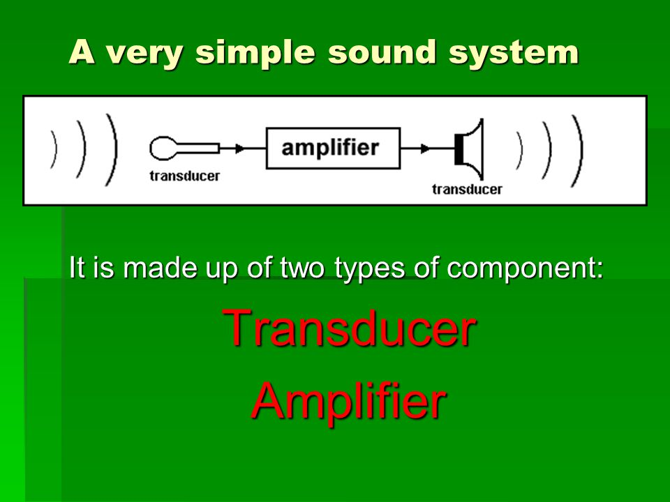 A very simple sound system