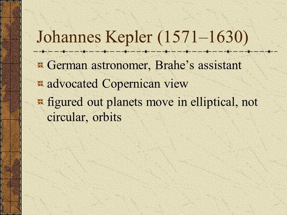 Johannes Kepler (1571–1630) German astronomer, Brahe's assistant