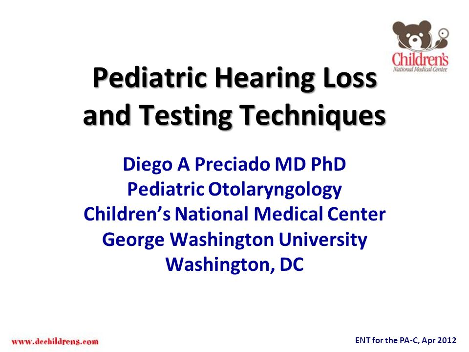 Pediatric Hearing Loss and Testing Techniques