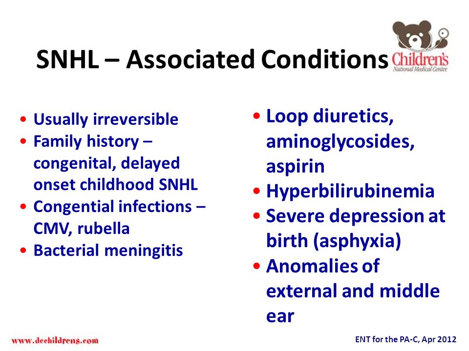 SNHL – Associated Conditions