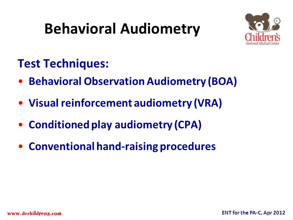 Behavioral Audiometry