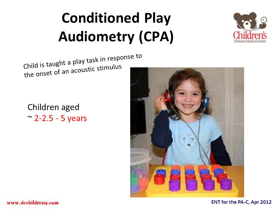 Conditioned Play Audiometry (CPA)