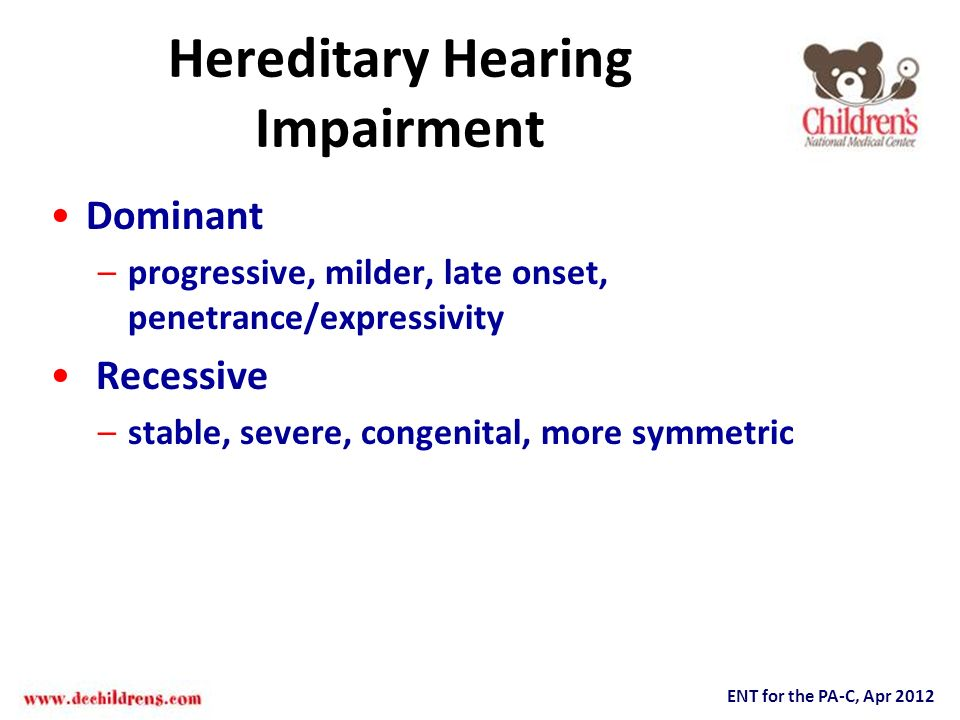 Hereditary Hearing Impairment