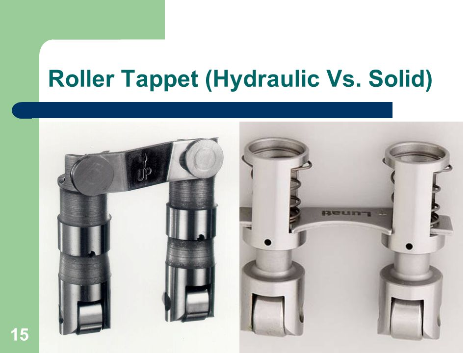 Roller Tappet (Hydraulic Vs. Solid)