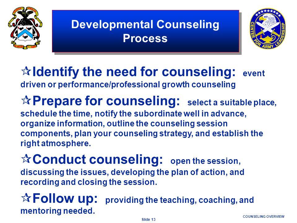 Developmental Counseling Process