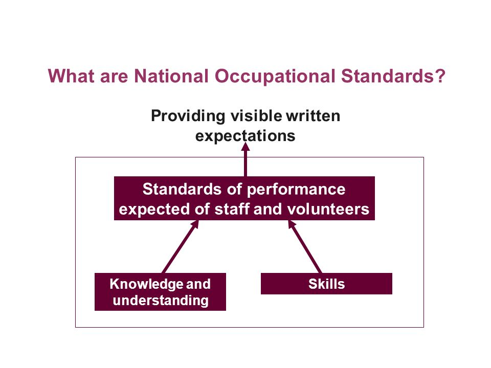 What are National Occupational Standards