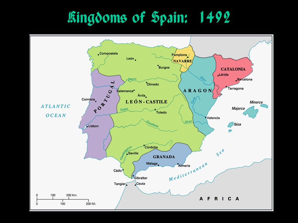 Kingdoms of Spain: 1492