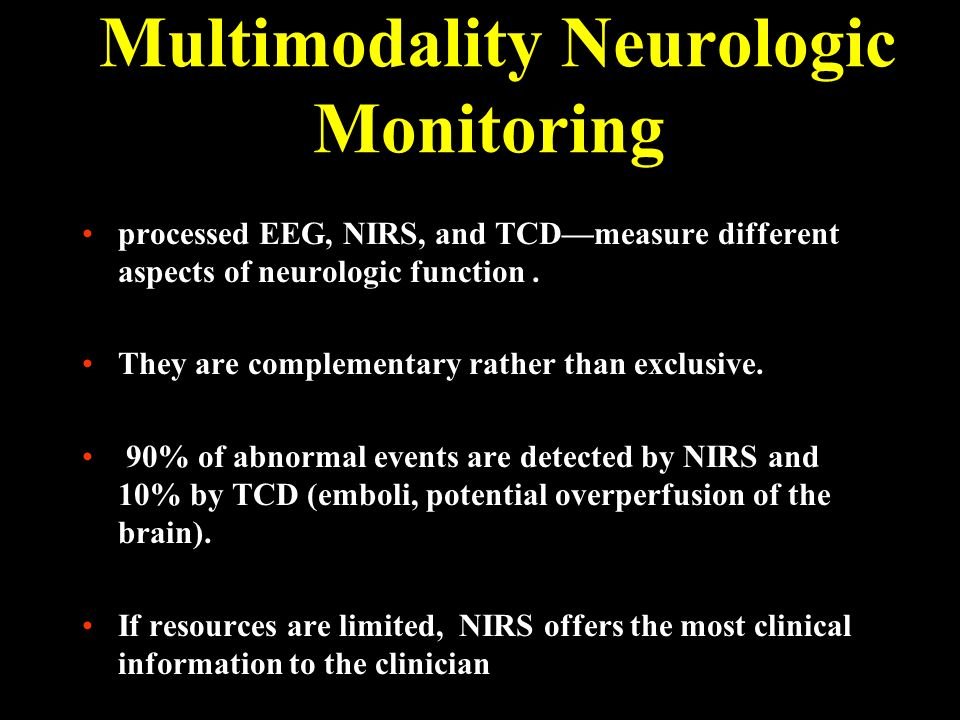 Multimodality Neurologic Monitoring