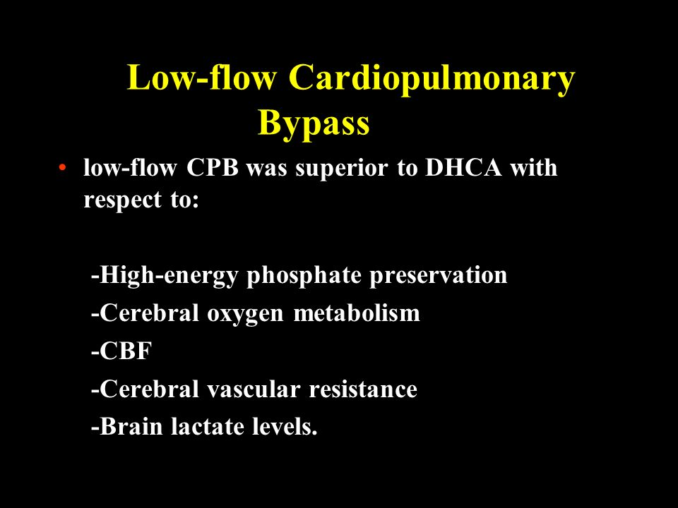 Low-flow Cardiopulmonary Bypass