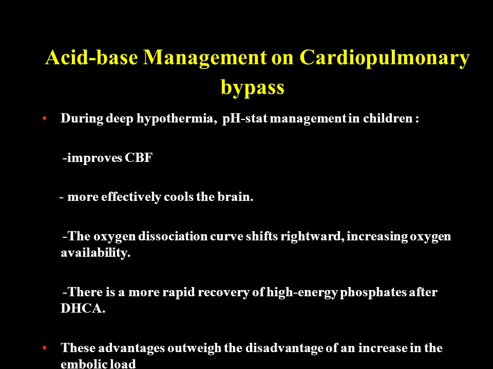 Acid-base Management on Cardiopulmonary bypass