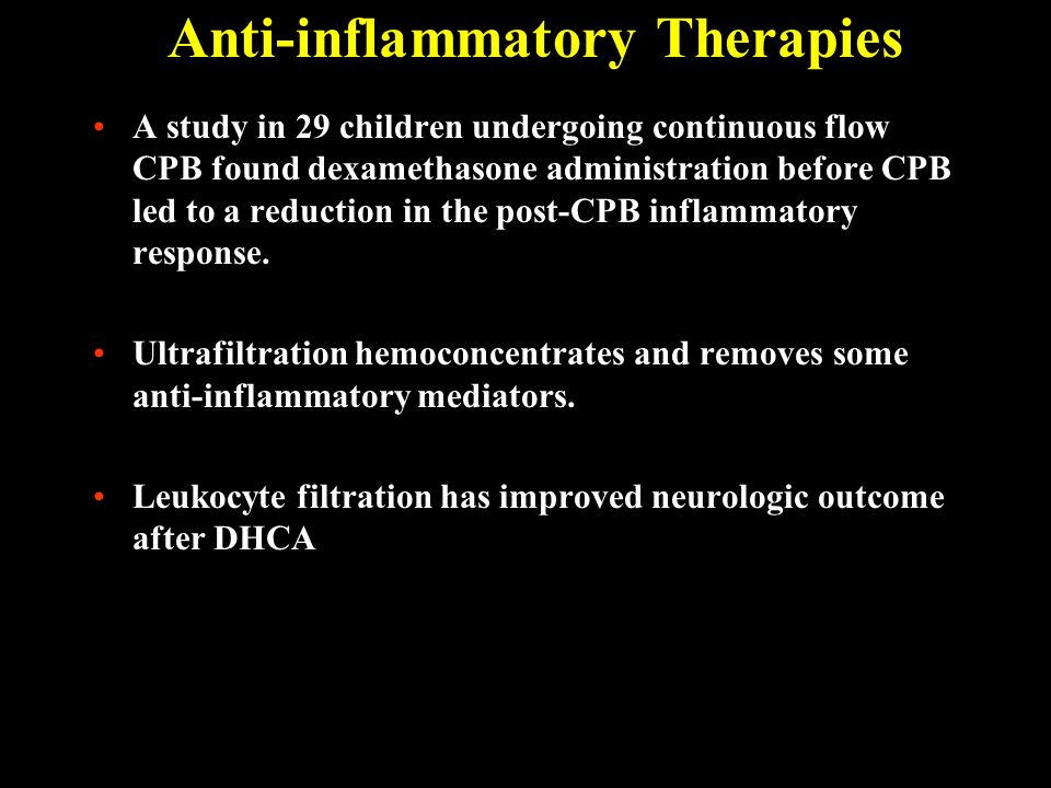 Anti-inflammatory Therapies