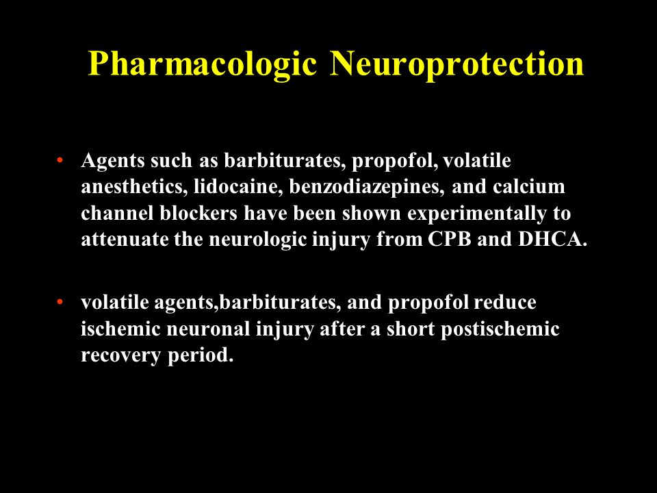 Pharmacologic Neuroprotection