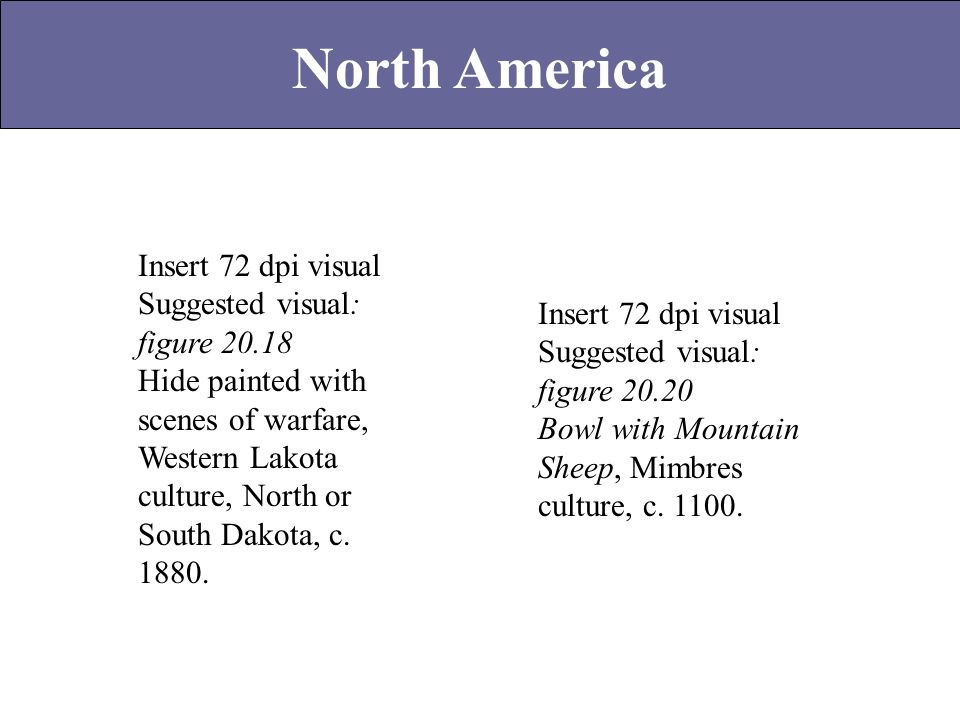 North America Insert 72 dpi visual Suggested visual: figure 20.18