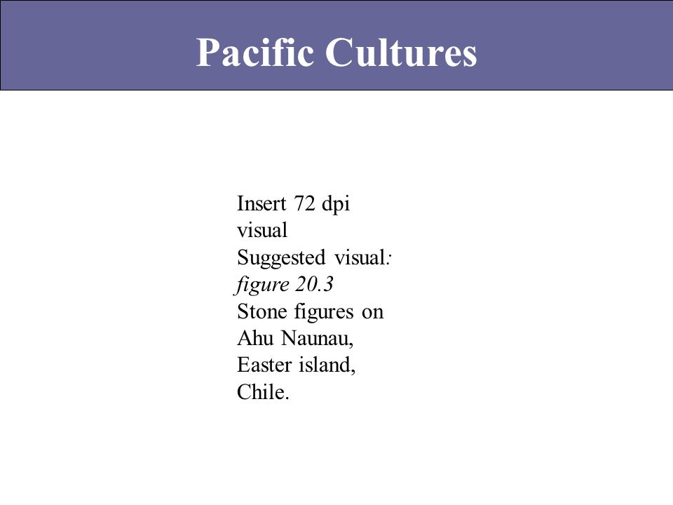 Pacific Cultures Insert 72 dpi visual Suggested visual: figure 20.3