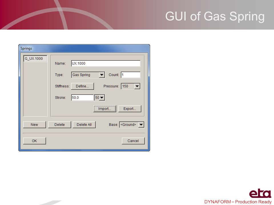 GUI of Gas Spring