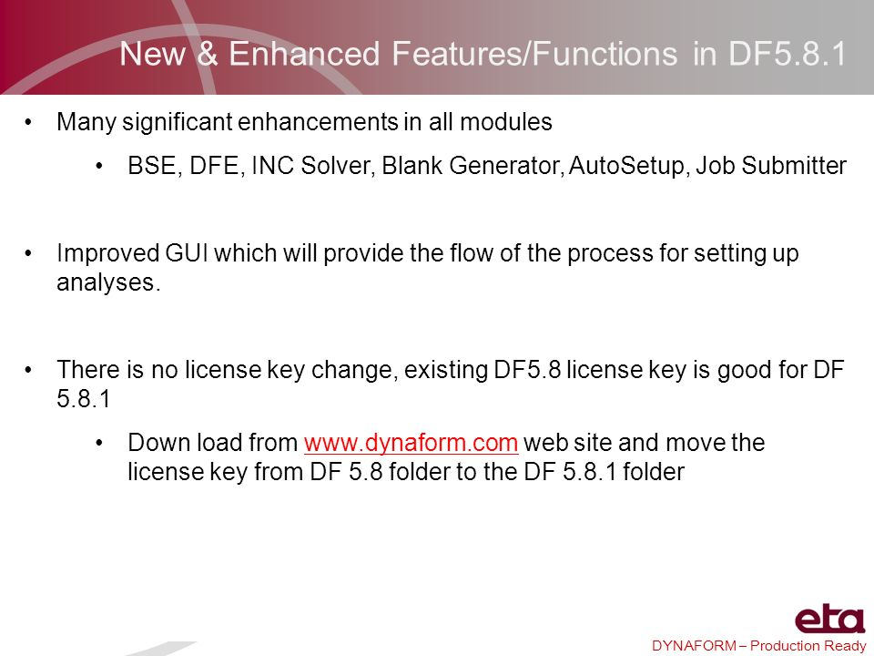 New & Enhanced Features/Functions in DF5.8.1