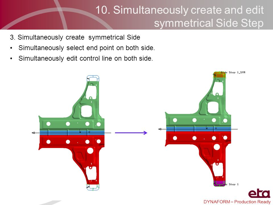 10. Simultaneously create and edit symmetrical Side Step