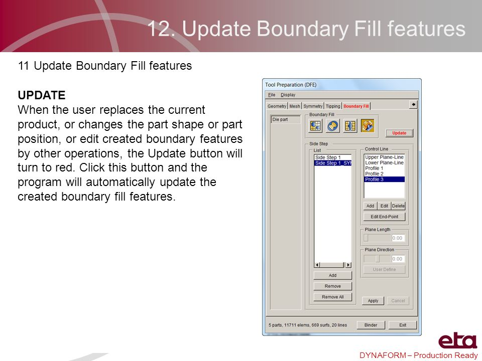 12. Update Boundary Fill features