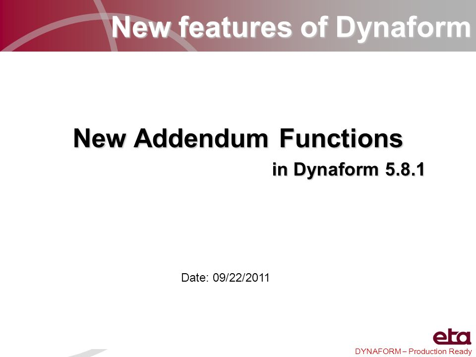 New Addendum Functions