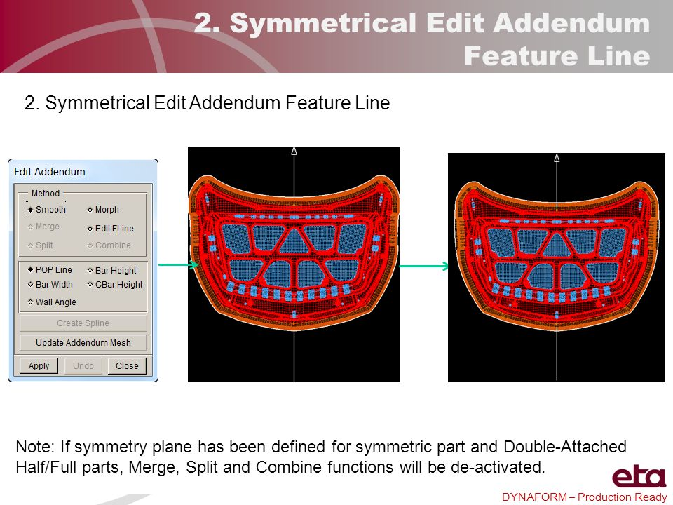 2. Symmetrical Edit Addendum Feature Line