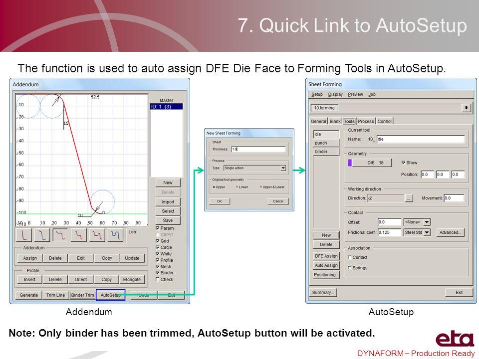 7. Quick Link to AutoSetup