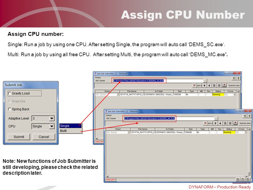 Assign CPU Number Assign CPU number: