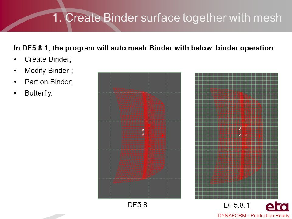 1. Create Binder surface together with mesh