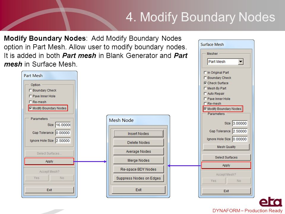4. Modify Boundary Nodes