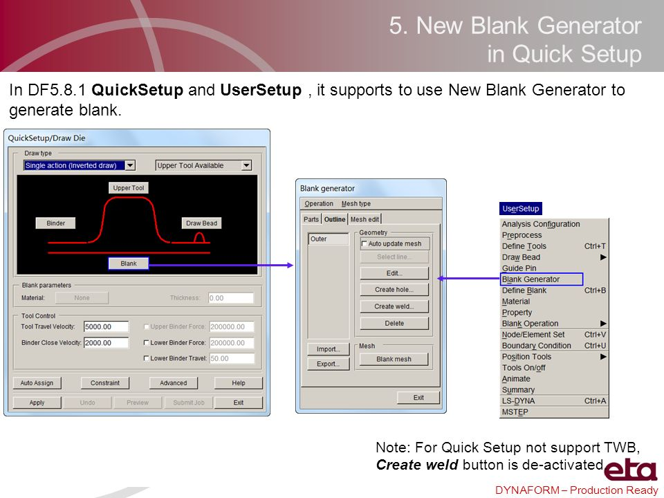 5. New Blank Generator in Quick Setup