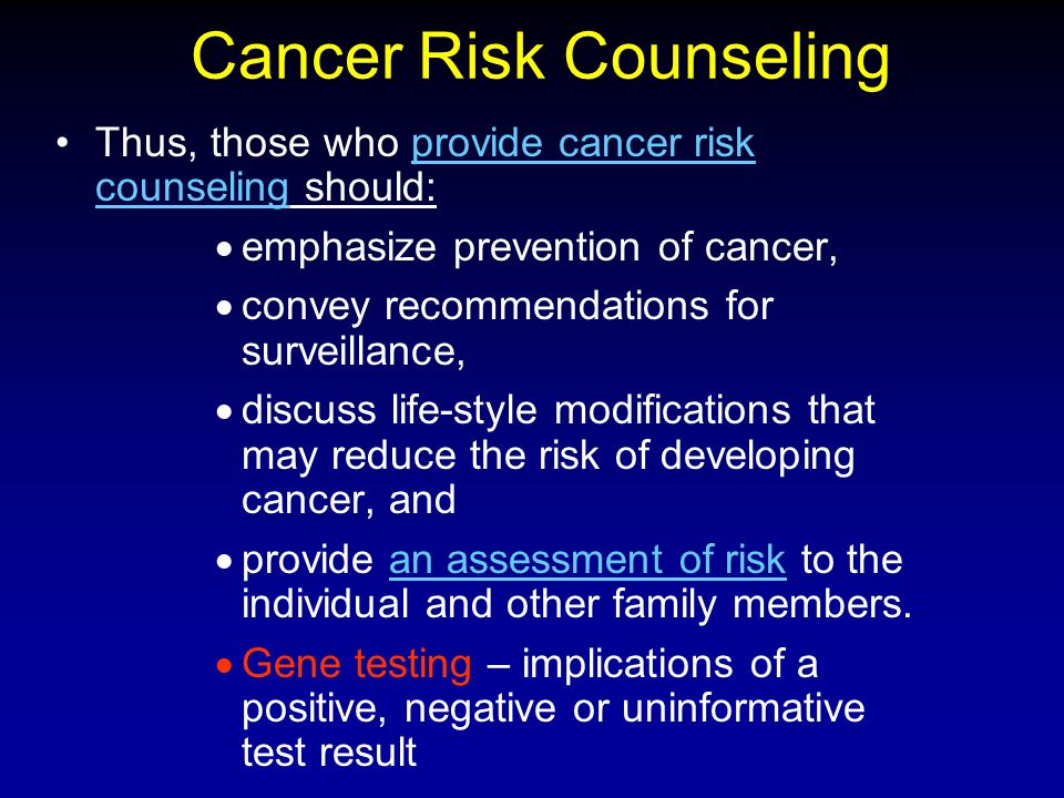 Cancer Risk Counseling