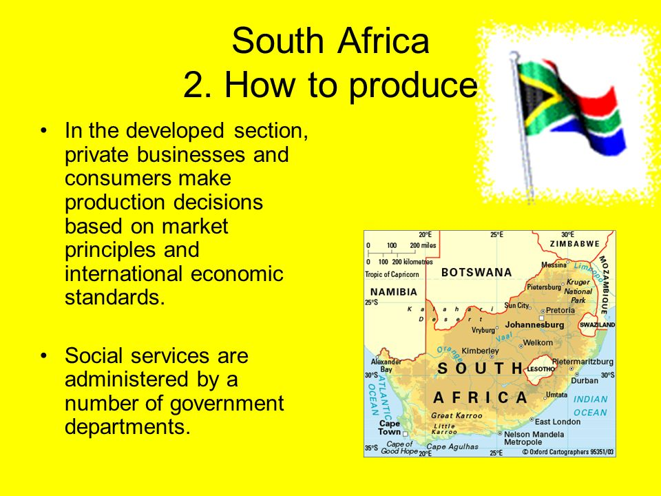 South Africa 2. How to produce