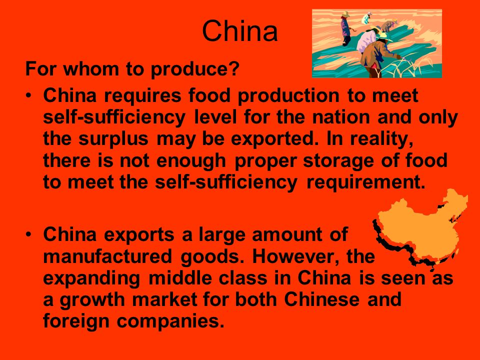 China For whom to produce