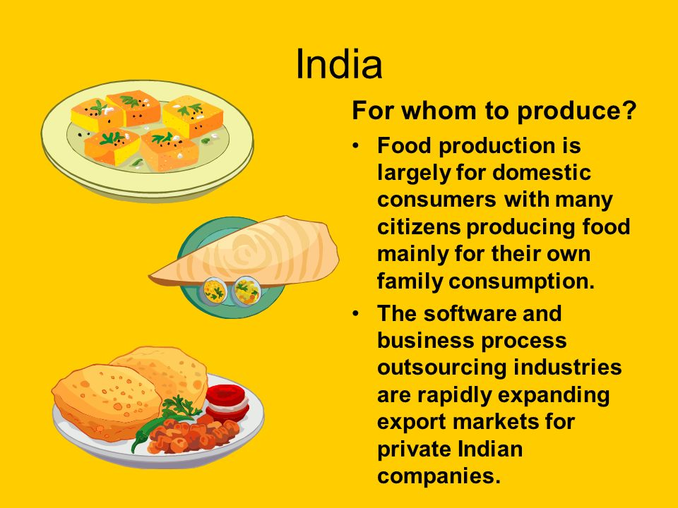 India For whom to produce