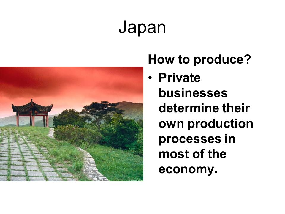 Japan How to produce.