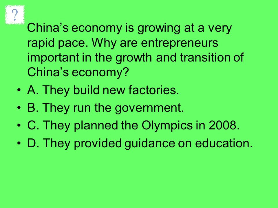 China's economy is growing at a very rapid pace