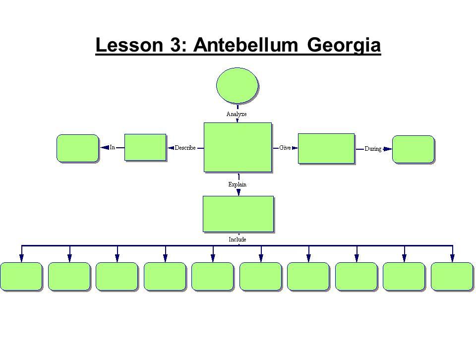 Lesson 3: Antebellum Georgia