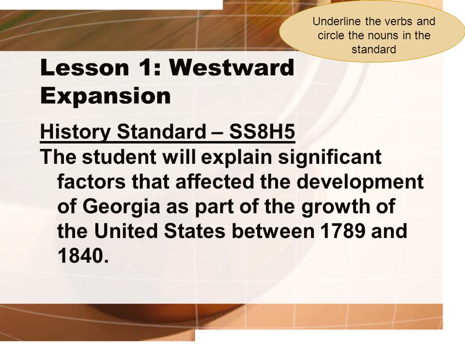 Lesson 1: Westward Expansion